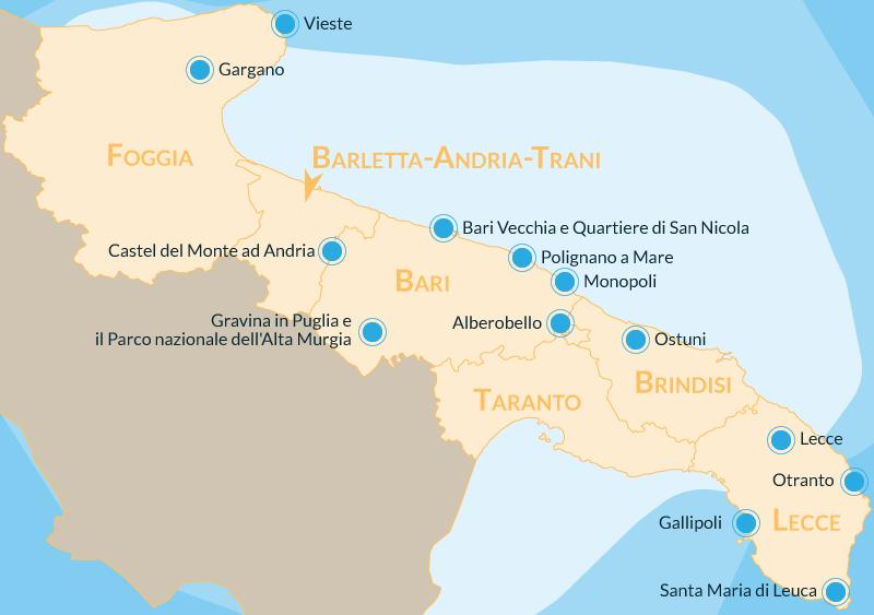 Cartina Puglia Con Tutti I Paesi.Cosa Vedere In Puglia 10 Posti Da Visitare Assolutamente