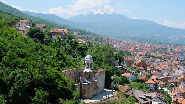 prizren kosovo paesaggio urbano