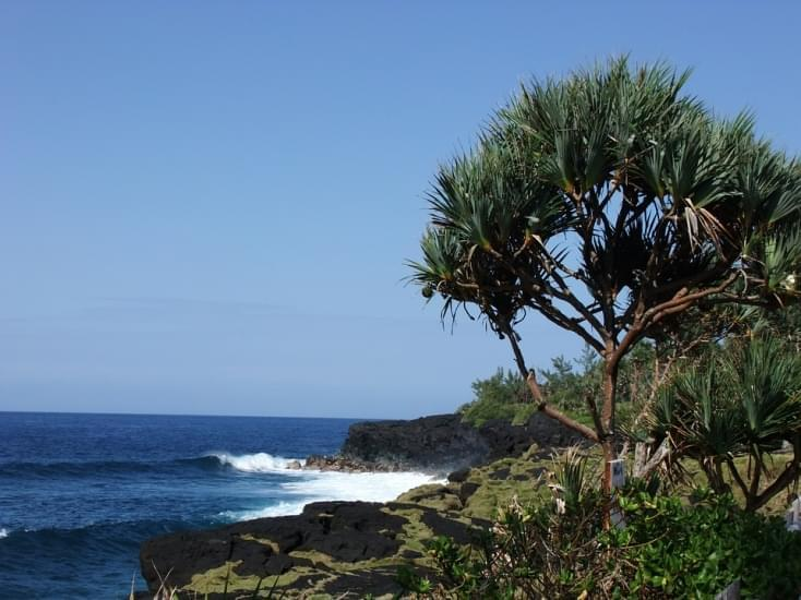 panorama della costa dell'isola reunion