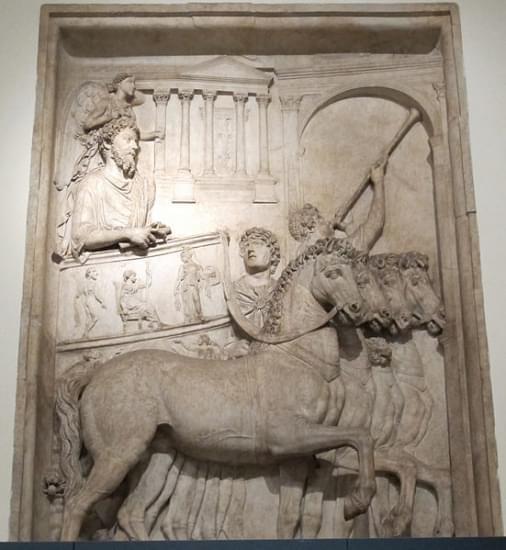 rilievo da monumento onorario di marco aurelio trionfo