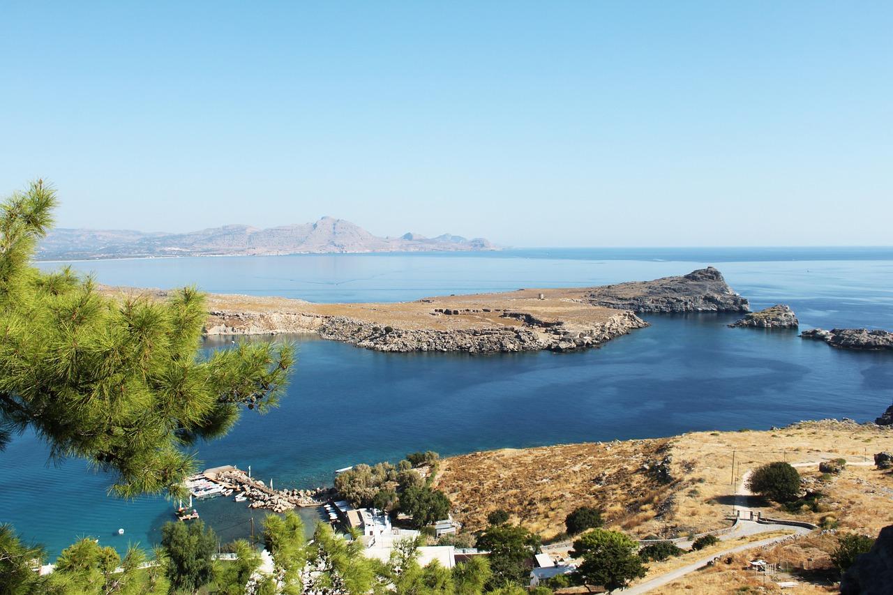 piscina naturale a Rodi, Grecia