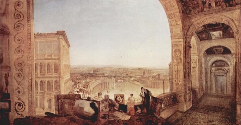 roma vista dal vaticano tate britain