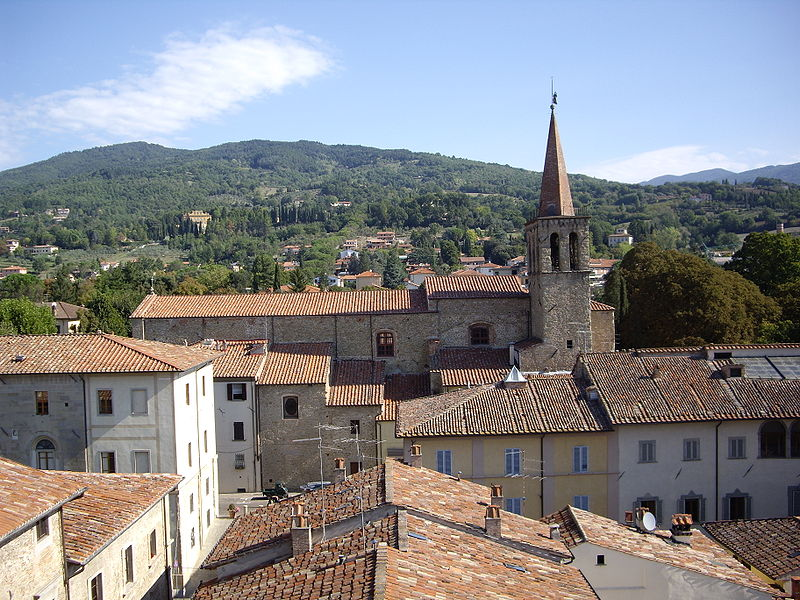 Sansepolcro Roofs With Church Steeple