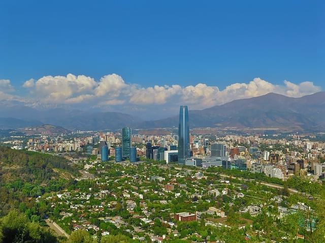 vista sul punto panoramico Sky Costanera a santiago del chile