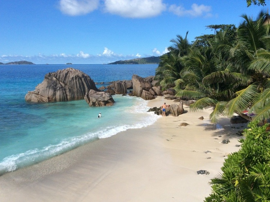 Seychelles La Digue Beach Tropicale