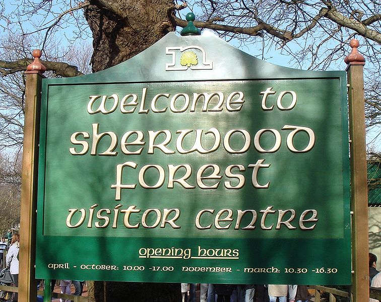 Ingresso foresta di Sherwood