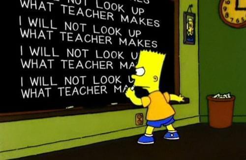 Bart a scuola