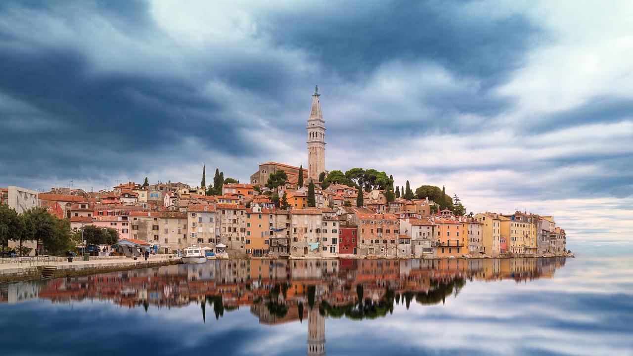 vista panoramica di rovigno in Istria