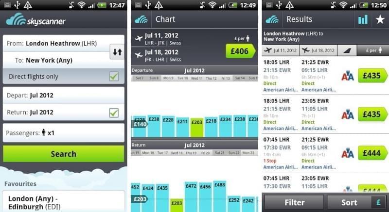 skyscanner app mobile