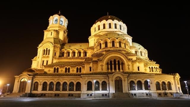 sofia bulgaria cattedrale notte