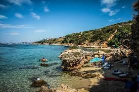 Una piccola spiaggia in Croazia
