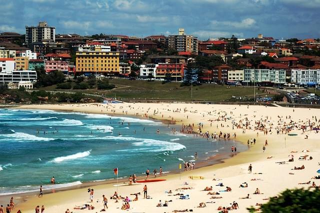 panoramica su bondi beach