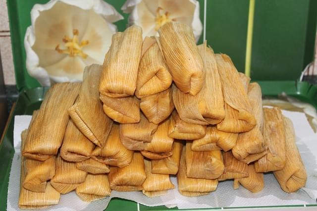 tamales messico cibo