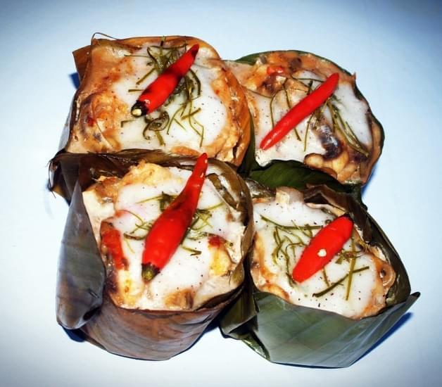 thai curried fish custard