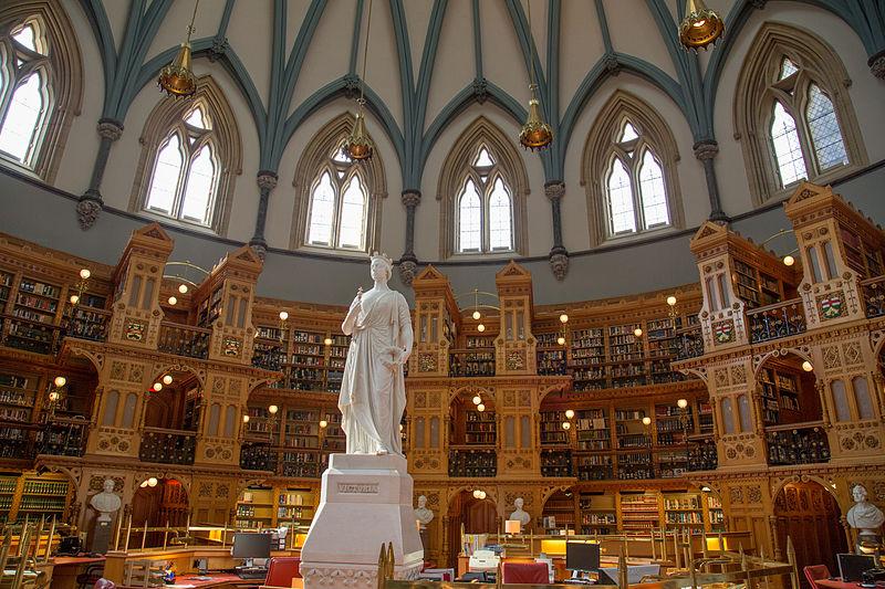 Biblioteca del Parlamento di Ottawa, Canada