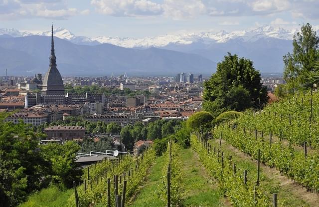 vista di Torino dalla Collina dei Cappuccini