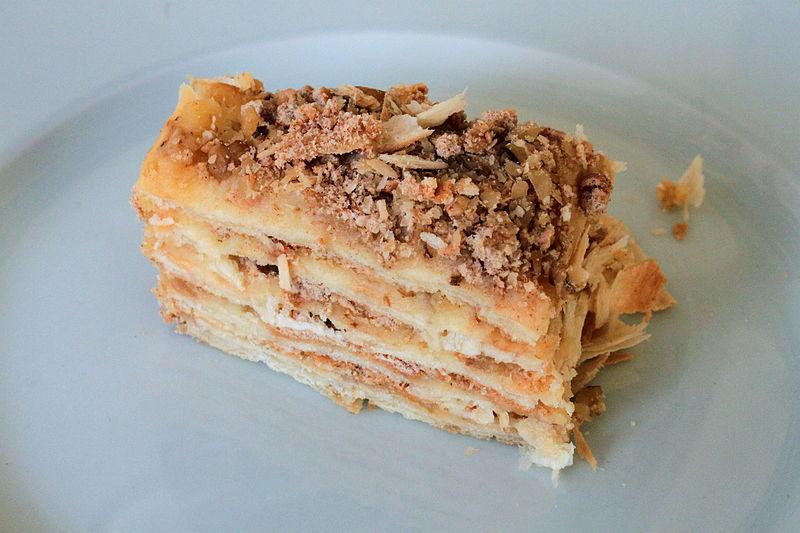 la deliziosa torta napoleon
