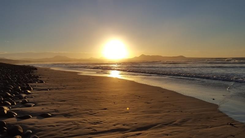 tramonto a lanzarote, canarie