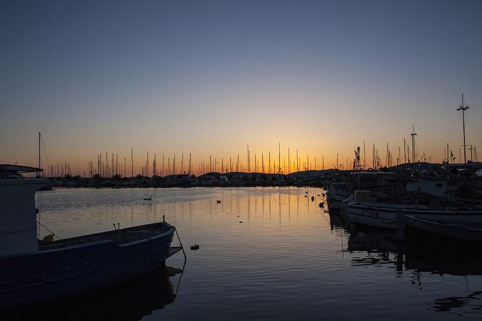 tramonto ad alghero sardegna