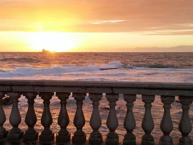 tramonto dalla terrazza mascagni