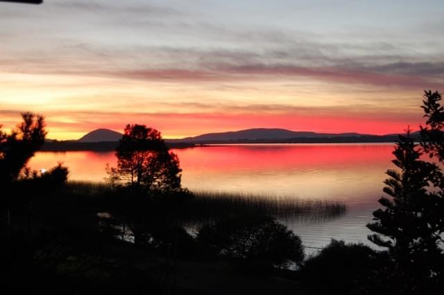 tramonto laguna uruguay