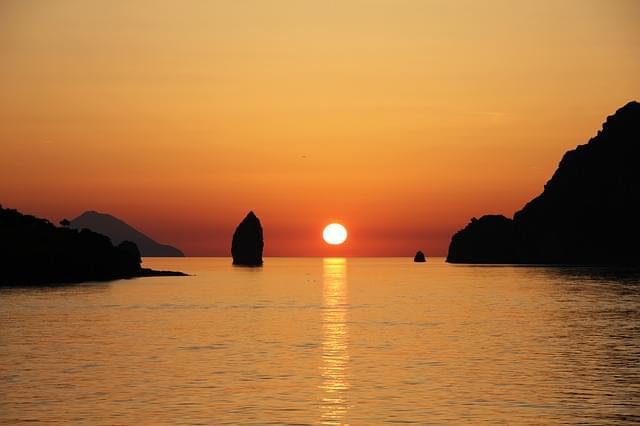 tramonto sul mare di Sciacca