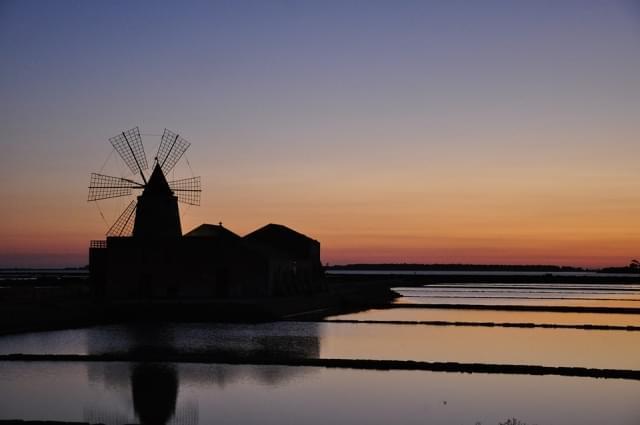 tramonto marsala salina sicilia