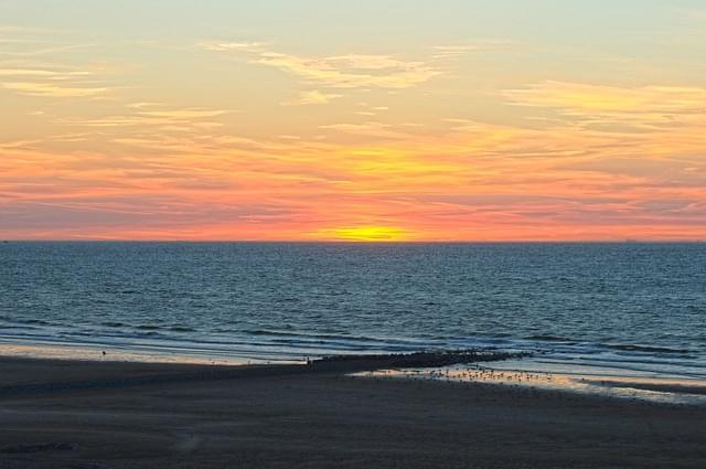 tramonto sul mare marche