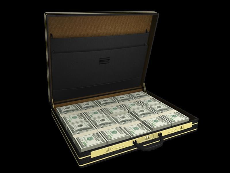 Valigia con soldi