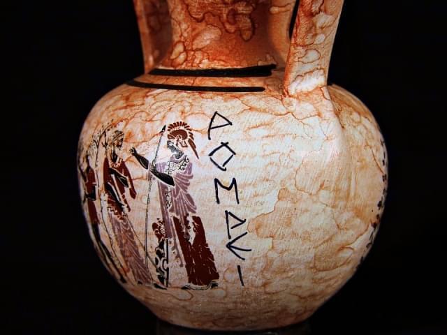 vaso anfora pompei italia pittura