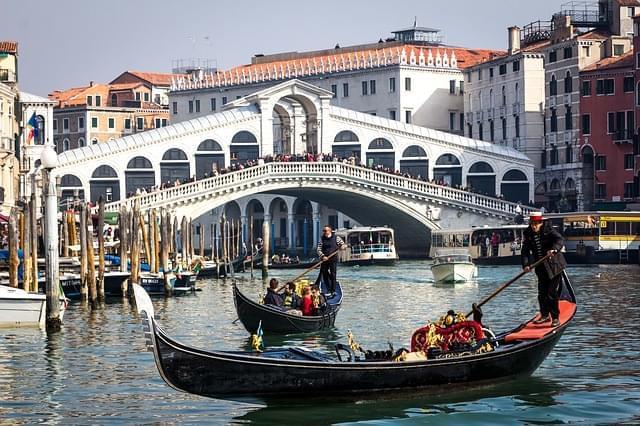 Canl Grand e ponte Rialto Venezia