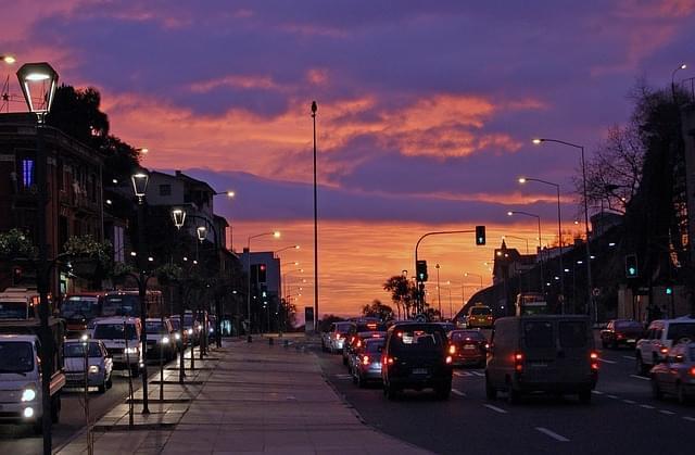 vina del mar cile al tramonto