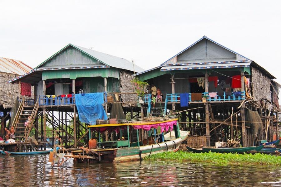 Piccolo villaggio in Cambogia