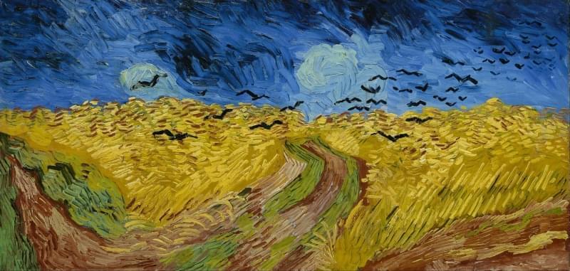 vincent van gogh campo di grano con volo di corvi