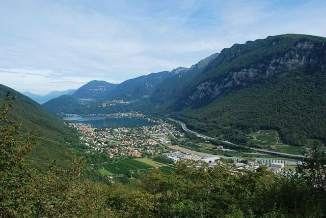 vista dal monte san giorgio sul lago ceresio panoramio