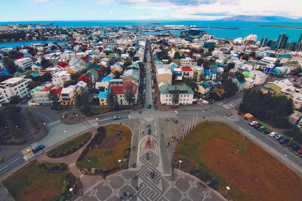vista reykjavik dal campanile